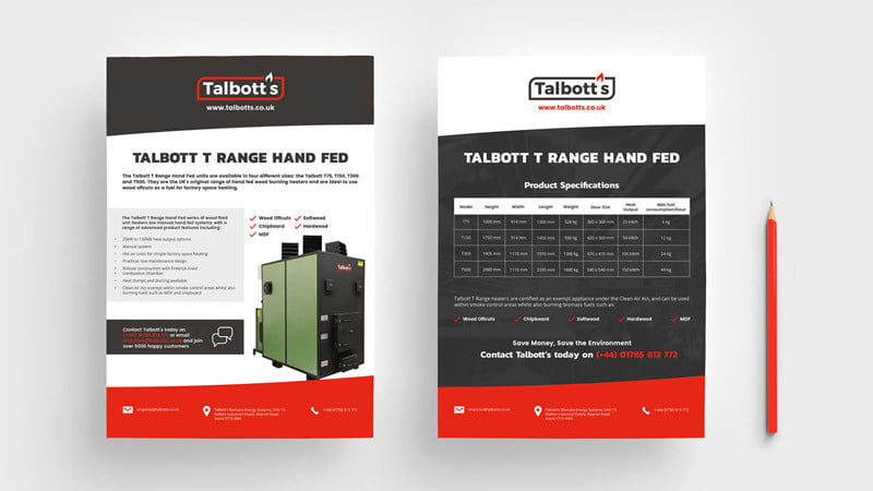 Talbott's product sheet Studio Seventeen