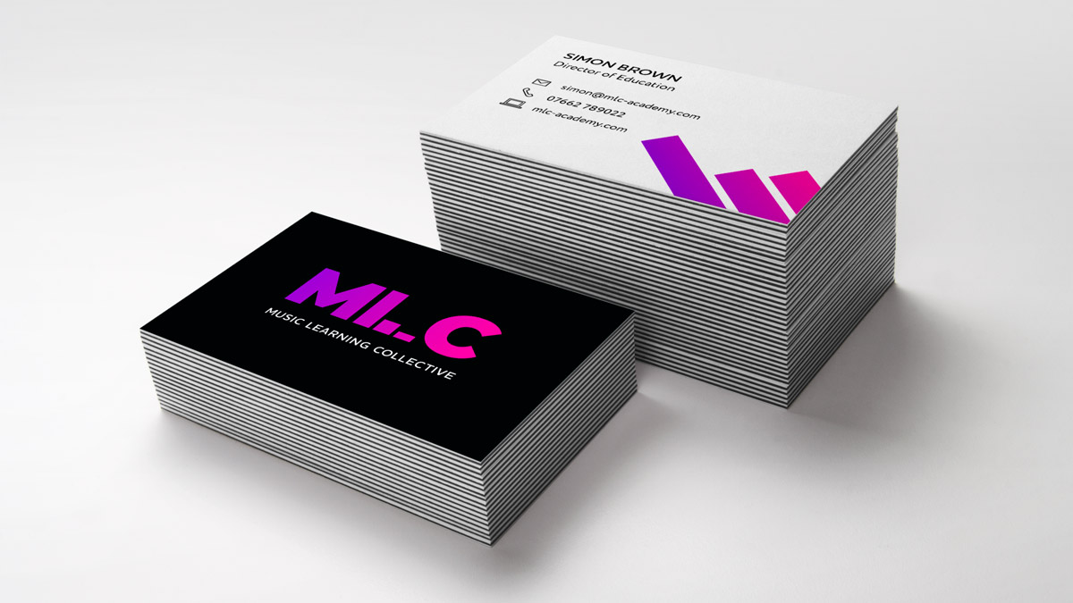 MLC business cards Studio Seventeen