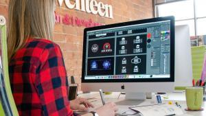 Why Your Company Logo is Important Studio Seventeen (girl designing on computer)